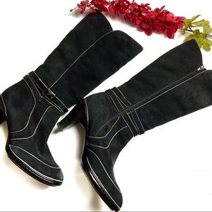 Sofft Suede Riding Heel Boots